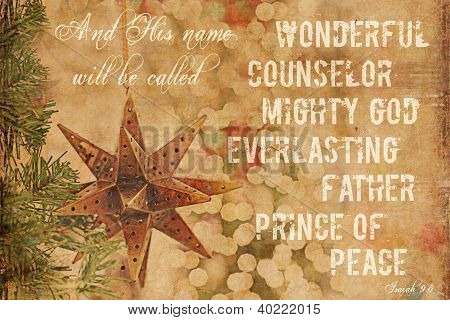 Christmas Background Isaiah 9:6