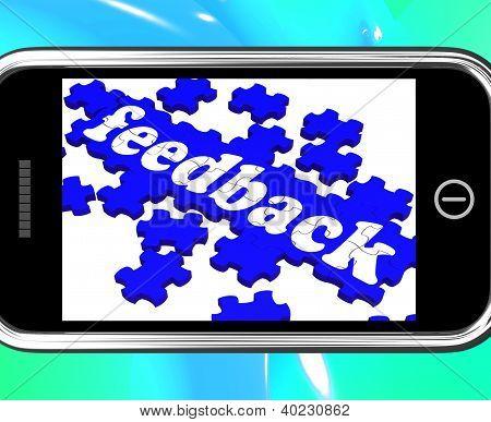 Feedback zu Smartphone zeigt Customers' Zufriedenheit