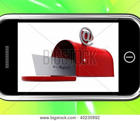 Caixa de correio no Smartphone, mostrando a caixa de entrada de E-mail