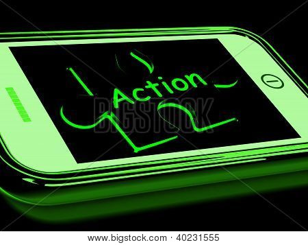 Action On Smartphone Shows Proactive Motivation