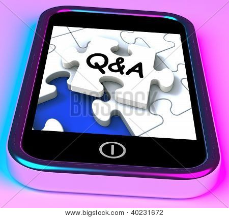 Q&a On Smartphone Showing Asking Inquiries .