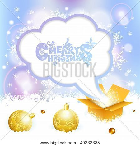 Christmas Speech Bubble