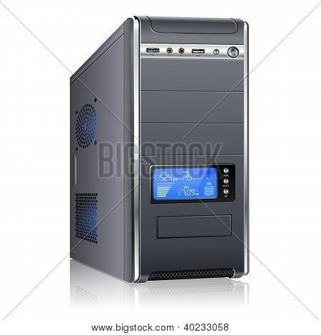 Caixa do computador moderno