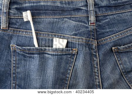 Jeans And Toothbrush