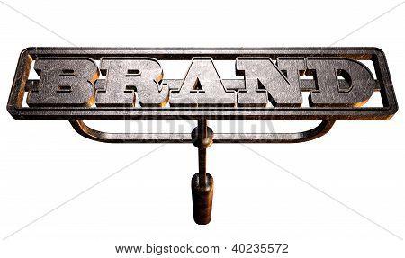 Metal marca marca frente