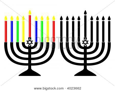 Channukah menoras