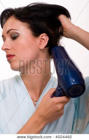 Blow Drying Hair