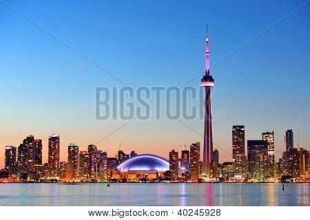 TORONTO, CANADA - JULY 3: Toronto skyline with architectures on July 3, 2012 in Toronto, Canada. Toronto with the population of 6M is the provincial capital of Ontario and the largest city in Canada.