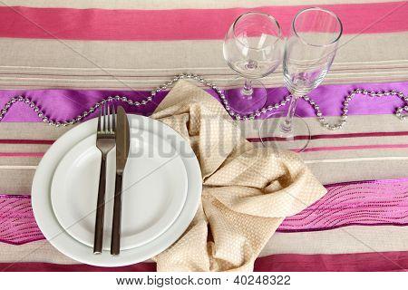 Table setting festive table