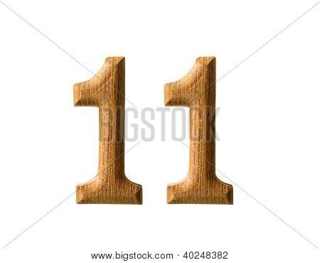 Numérico de madeira