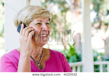 Senior Woman And Mobile Phone