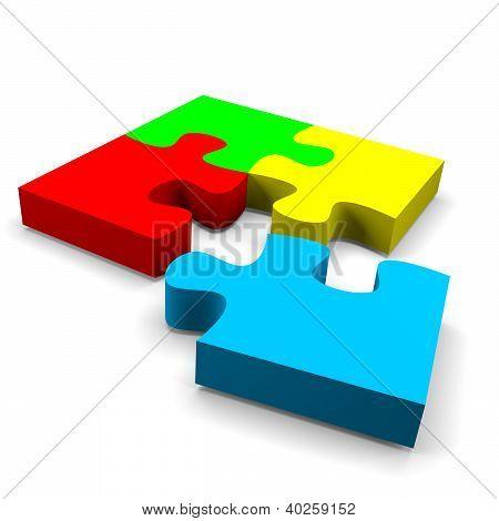 Concepto de la solución de rompecabezas