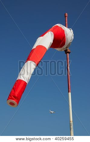 Red & white windsock.