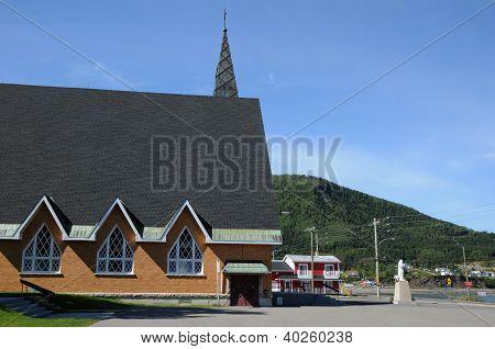 Quebec, The Historical Church Of Saint Maxime Du Mont Louis