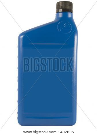 Blue Oil Bottle