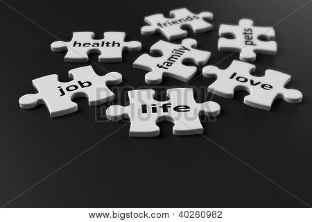 Puzzle Pieces Of Life