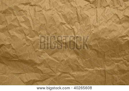 Zerknitterte Papier