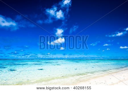 Beautiful Tropical Lagoon on a clear day