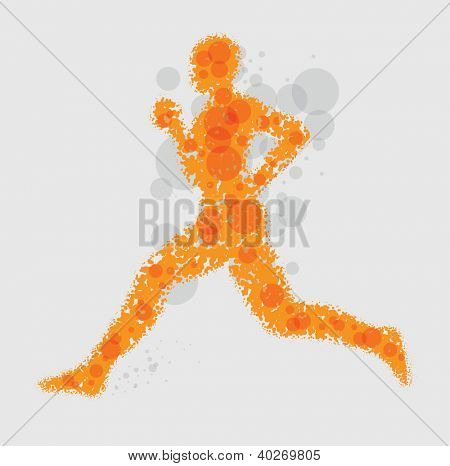 Abstract vector runner illustration