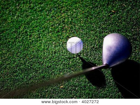Golf Club Right Side With Golf Ball