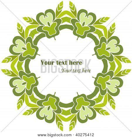 Green Decorative Round Frame