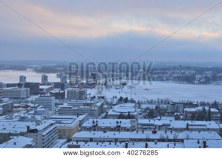 Jyvaskyla, Finland. Top-view Of The City