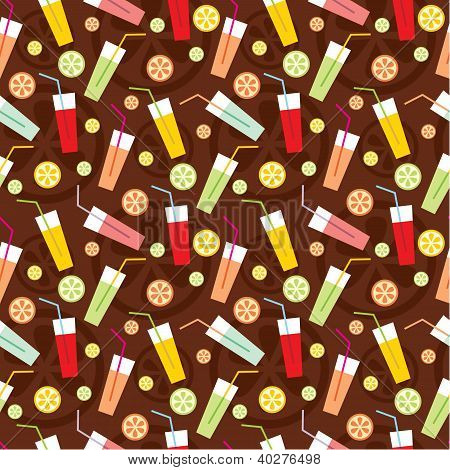 Seamless Drinks Pattern