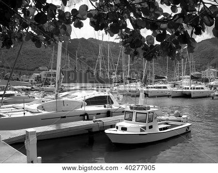St Barts harbour West Indies
