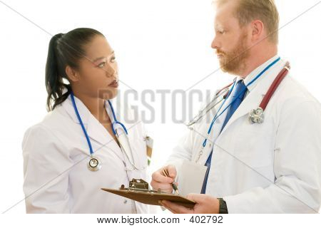 Two Doctors In Discussion