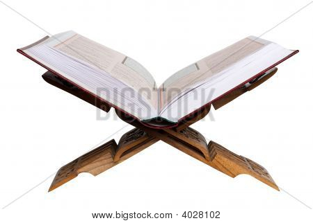 Holy Koran. Isolated On White
