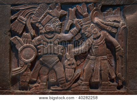 Ancient Mayan Stone Carving