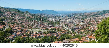 Panoramic views of the capital city of Bosnia and Herzegovina, Sarajevo.
