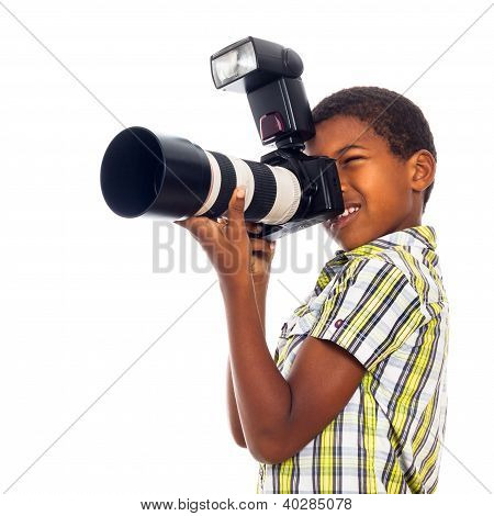 Child Photographer With Professional Camera