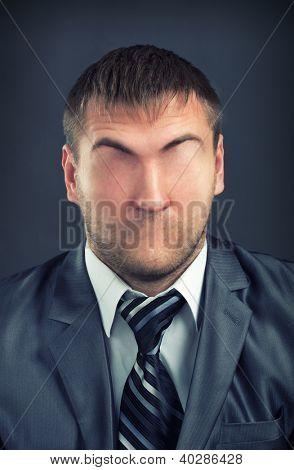 Portrait of businessman without face