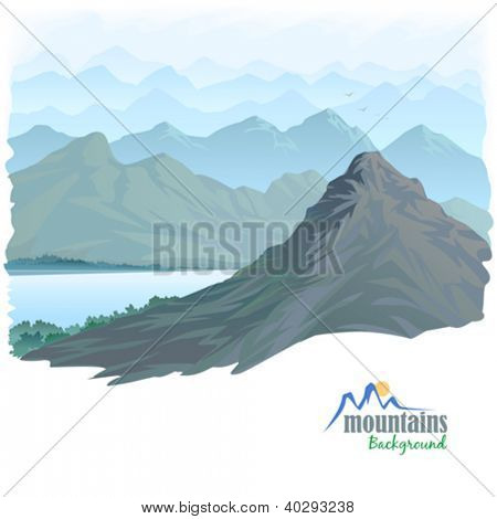 Long Mountain Range and River