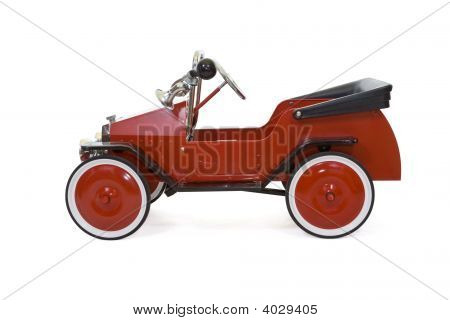 Red Vintage Toy Car - Isolated