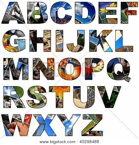 Photo Collage Alphabet - Uppercase