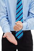 Businessman Hitting His Palm