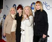 LOS ANGELES - DEC 13:  Maggie Blye, Frances Fisher, Connie Stevens, Sally Kellerman arrive to the 'S