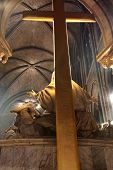 foto of damme  - Church and crucifixion in the Paris Notre damme - JPG