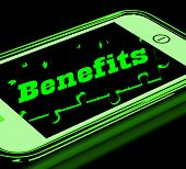 Benefits On Smartphone Showing Messages Bonus poster
