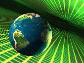 Постер, плакат: Земля в киберпространстве