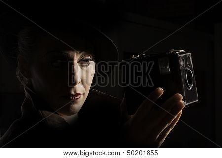 Film Noir style portrait