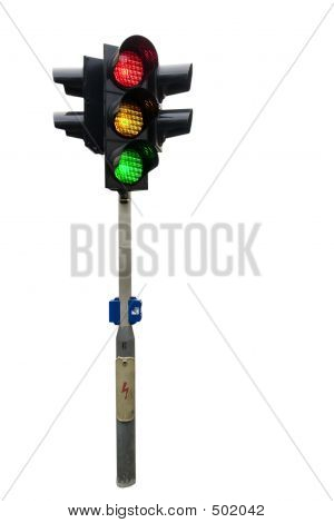 Traffic Light Isolated
