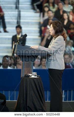 Hilda Solis At Obama Town Hall