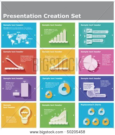Vector presentation elements