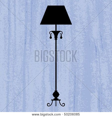 template design of invitation with lamp