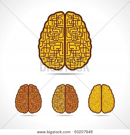 Different illustration of Brain forming of  arrows