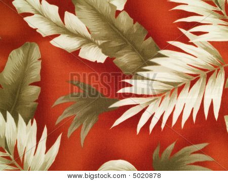 Red Hawaiian Shirt Detail