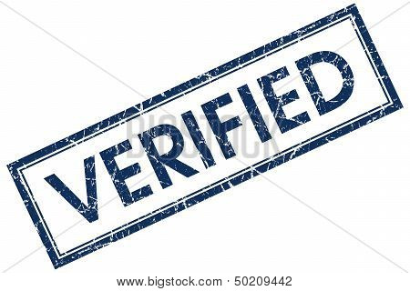 Verified Blue Square  Stamp